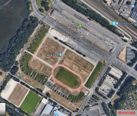 Google earth view of Zeppelinfeld.