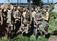 Brandenburgers in Russian uniform in the summer of 1941. The Brandenburgers (German: Brandenburger) were members of the Brandenburg German Special Forces unit during World War II.