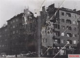 Destruction in Sofia as a result of the Anglo-American bombings.