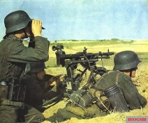 The German MG-34 with tripod and MGZ40 scope, Summer 1942.
