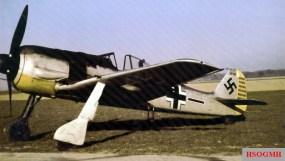 "Two photos of Focke-Wulf 190 A-2 (Werknummer 20209) of Hauptmann Joachim Müncheberg, at that time Kommandeur of II.Gruppe / Jagdgeschwader 26 (JG 26) ""Schlageter""."