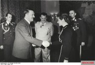 Nicolaus von Below (left) with Hitler, Hermann Göring and Hanna Reitsch in 1941.