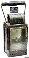 WWII Reichsbahn military marked railwayman's carbide burner lantern (ca. 1942).
