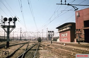 Looking into the track ahead of Florence, Italy. This part of the station remained amazingly almost intact, while the Florence Santa Maria Novella railway station was razed to the ground! The picture was taken by Walter Hollnagel in July 1944.