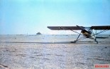 "The Fieseler Fi 156 ""Storch"" light transport aircraft used by General Erwin Rommel in the North Africa. Rommel was known to hop in his Storch and fly over the battlefront to get a clearer picture on operations. Photo taken by Rommel himself during his Campaign in North Africa, 1941."