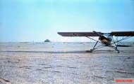 """The Fieseler Fi 156 """"Storch"""" light transport aircraft used by General Erwin Rommel in the North Africa. Rommel was known to hop in his Storch and fly over the battlefront to get a clearer picture on operations. Photo taken by Rommel himself during his Campaign in North Africa, 1941."""