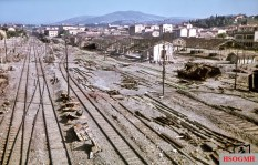 Despite the devastation caused by an Allied air strike, this picture shows the typical type of damage removal of the continuous main tracks by the Reichsbahn recovery team. The picture was taken by Walter Hollnagel in August 1944.