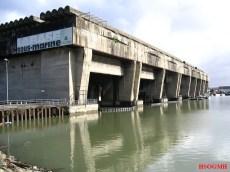 Submarine pen at Bordeaux.