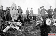 The remains of the first aircraft shot down by Greim 10 October 1915 the Pilot and observer of Escadrille MF 63 were killed.
