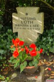 Wolfgang Lüth's grave, cemetery Adelby.