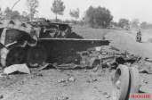 Destroyed Soviet T-34, 1943.