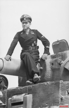 German tank commander Michael Wittman, photographed one month prior to Operation Overlord.