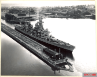 USS Prinz Eugen passing through the Panama Canal in 1946.