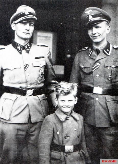 From left to right: Christian Frederik von Schalburg, Alex von Schalburg, Søren Kam.