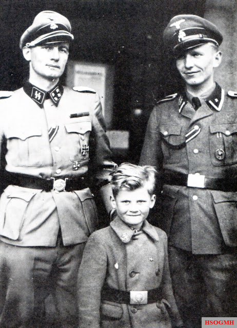 From left to right: Christian Frederik von Schalburg, Alex von Schalburg, Søren Kam.