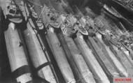 Captured Seehund submarines, 1945.