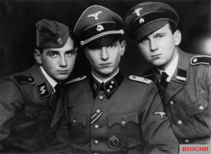 The Kam brothers in the Waffen-SS (from left to right): Poul, Søren and Erik. The Danes were photographed in 1943 and they fought in the ranks of the Wiking Division.