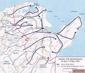 Tunisia Campaign operations, 20 April to 13 May 1943.