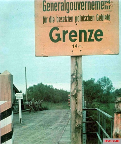 Soviet-occupied Poland began 14 metres beyond this frontier sign on the river Granitsa, June 1941 just days before Unternehmen Barbarossa.