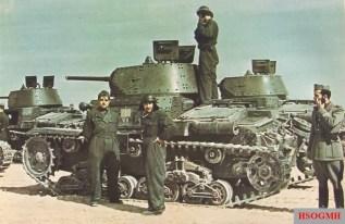 Fiat-Ansaldo M13/40 tanks of the VII Battaglione, 32 Reggimento Carri, Ariete Armored Division just before the Axis advance on El-Agheila, 24 March 1941.