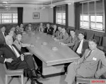 Wernher von Braun at a meeting of NACA's Special Committee on Space Technology, 1958.