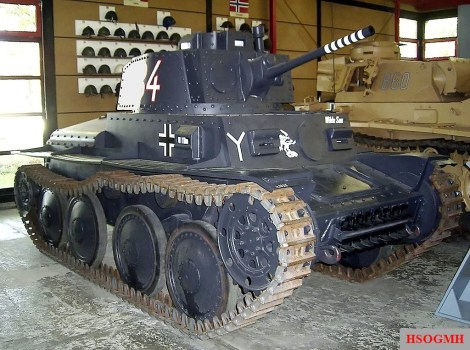 Panzer 38(t) used by the 7th Panzer division. These Czech built light tanks were the main combat vehicle of the division's panzer regiment from 1940 through 1941.