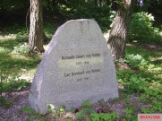 Memorial stone to Helmuth James von Moltke and his brother at Kreisau (now Krzyżowa, Poland).