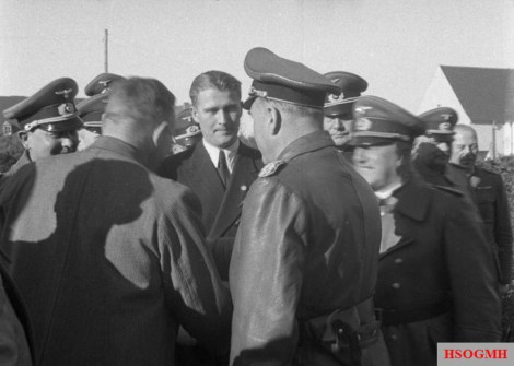 Todt with Wernher von Braun at Peenemünde, 21 March 1941.