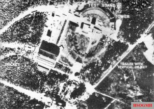1943 RAF photo-recon of Test Stand VII at the Peenemünde Army Research Centre.