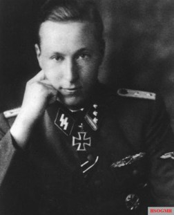 """SS-Hauptsturmführer Joachim Boosfeld was awarded the Ritterkreuz (Knight's Cross) on 21 February 1945 as Chef of 4.Schwadron / SS-Kavallerie-Regiment 16 / 8.SS-Kavallerie-Division """"Florian Geyer"""" for his heroism in the heavy defensive fighting in Budapest and his actions in fighting his way back to German lines. Boosfeld led his men along with some other troops safely out of the city and reached German position west of Budapest on 14 February 1945. During his time in Budapest cauldron he had 57 days of close-combat fighting and was awarded the Close Combat Clasp in Gold."""