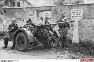 A 2 cm Flak 30 and its crew in Seine-et-Oise, France, August 1944.