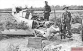 Franz von Werra's Bf 109E-4, pictured at Marden, Kent.