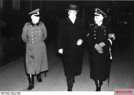 Berlin February 1939: Major von Schweinichen, Dr. Boor, and Müller.