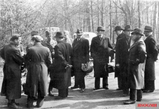 Plainclothes Gestapo agents during the White Buses operations in 1945.