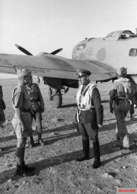 Müncheberg (left) and General (later field marshal) Erwin Rommel in North Africa, 1941.