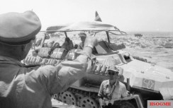 North Africa, Rommel in a Sd.Kfz. 250/3.