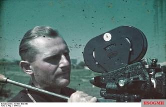 Horst Grund with an Arriflex camera 1941 in Konstanza.