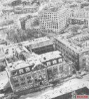 Gestapo Headquarters in 1947 in Berlin with bombing damage.