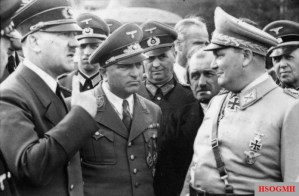 Hitler meeting Göring and automotive engineer Ferdinand Porsche at the Wolf's Lair in 1942.