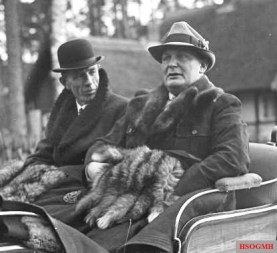 Göring with Lord Halifax at Schorfheide, 20 November 1937.