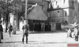 SS Einsatzgruppe members murdering Polish civilians in Kórnik shortly after the outbreak of World War II in Europe.