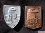 HJ Camp, Area 13 badges for years 1935 and 1936.