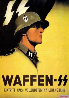 Waffen-SS advertising poster by Ottomar Anton with model Klemens Behler.