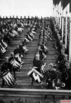The young drummers at the Congress of Freedom, 1935.