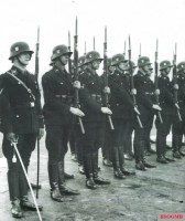 Soldiers of the SS in formation.