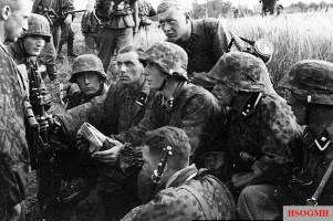 Waffen-SS on the front.