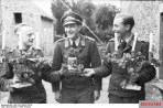 A series of German propaganda pictures illustrating the Ferntrauung, or proxy wedding, of a Luftwaffe Lieutenant , in Normandy in the spring of 1944.