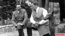 Adolf Hitler with Hermann Goering.