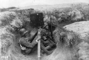 German film crew recording the action.