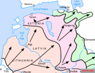 Progress of Army Group North, June to December 1941.